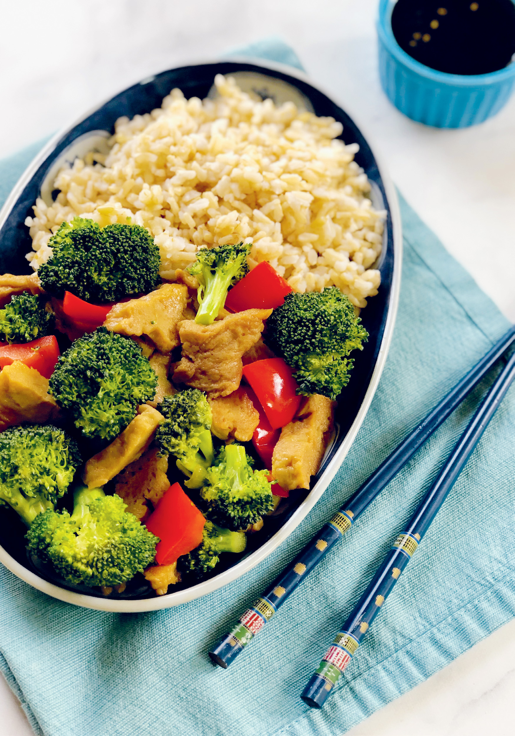 Seitan and Broccoli Stir Fry