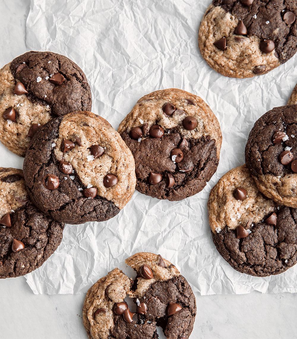 Soft + Chewy Brownie Swirled Cookies - Hello Veggie