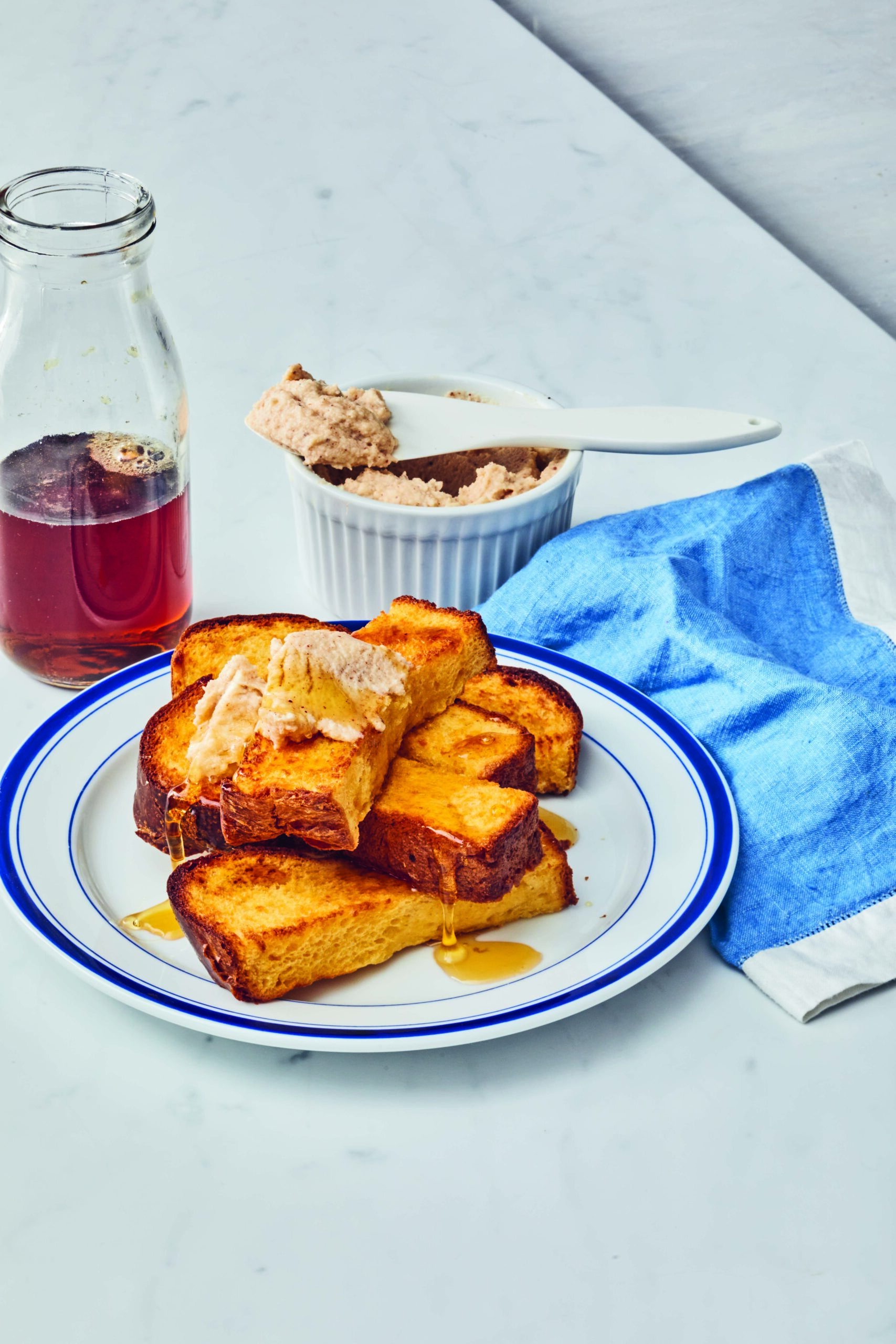 Air Fryer French Toast Sticks with Cinnamon Mascarpone Sauce - Hello Veggie