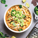 "Totally Comforting White Bean ""Chicken"" Chili Recipe - Hello Veggie"