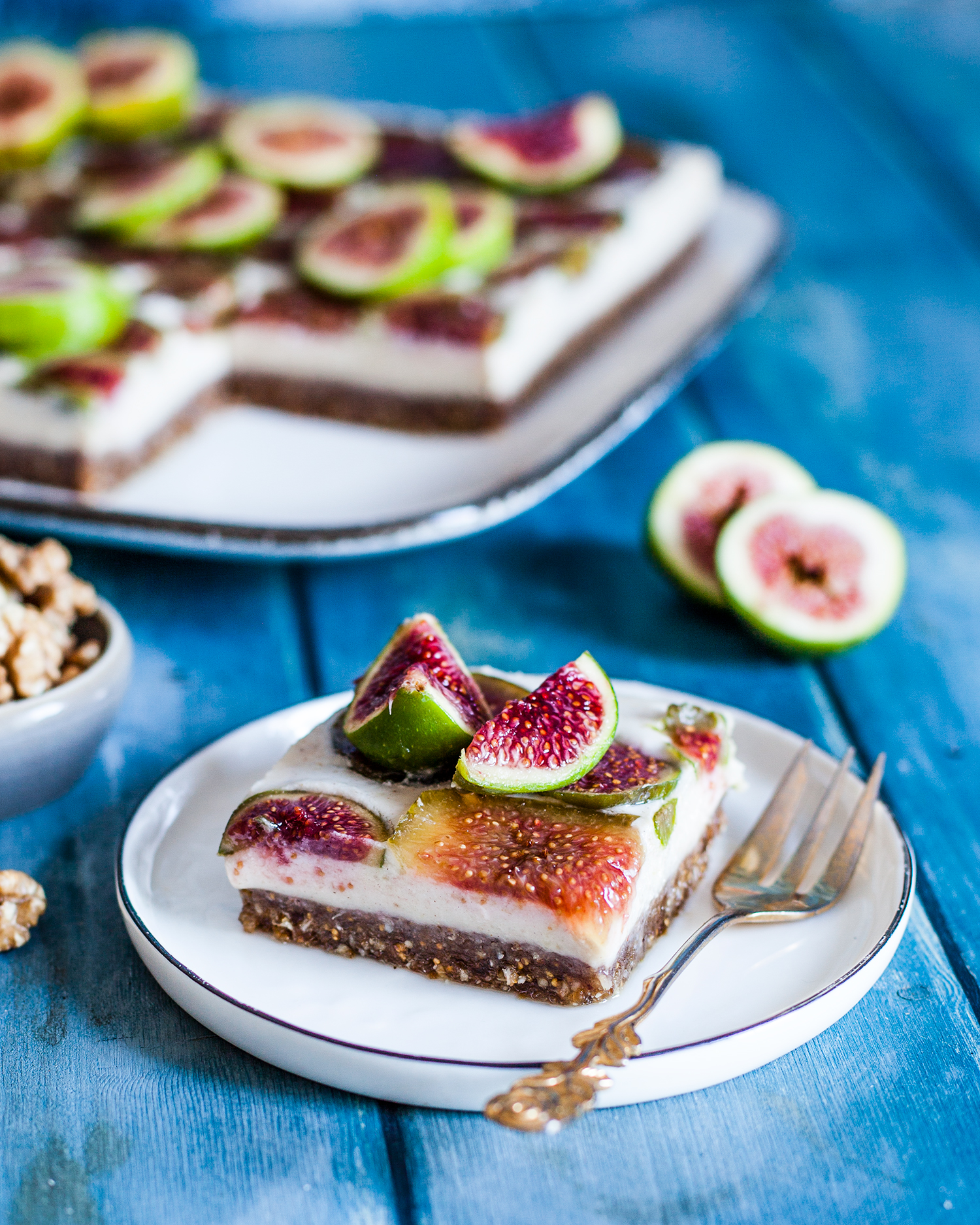Vegan Walnut + Fig Slices - Hello Veggie