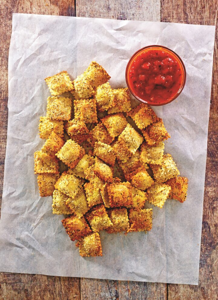 Air Fryer Toasted Ravioli - Hello Veggie